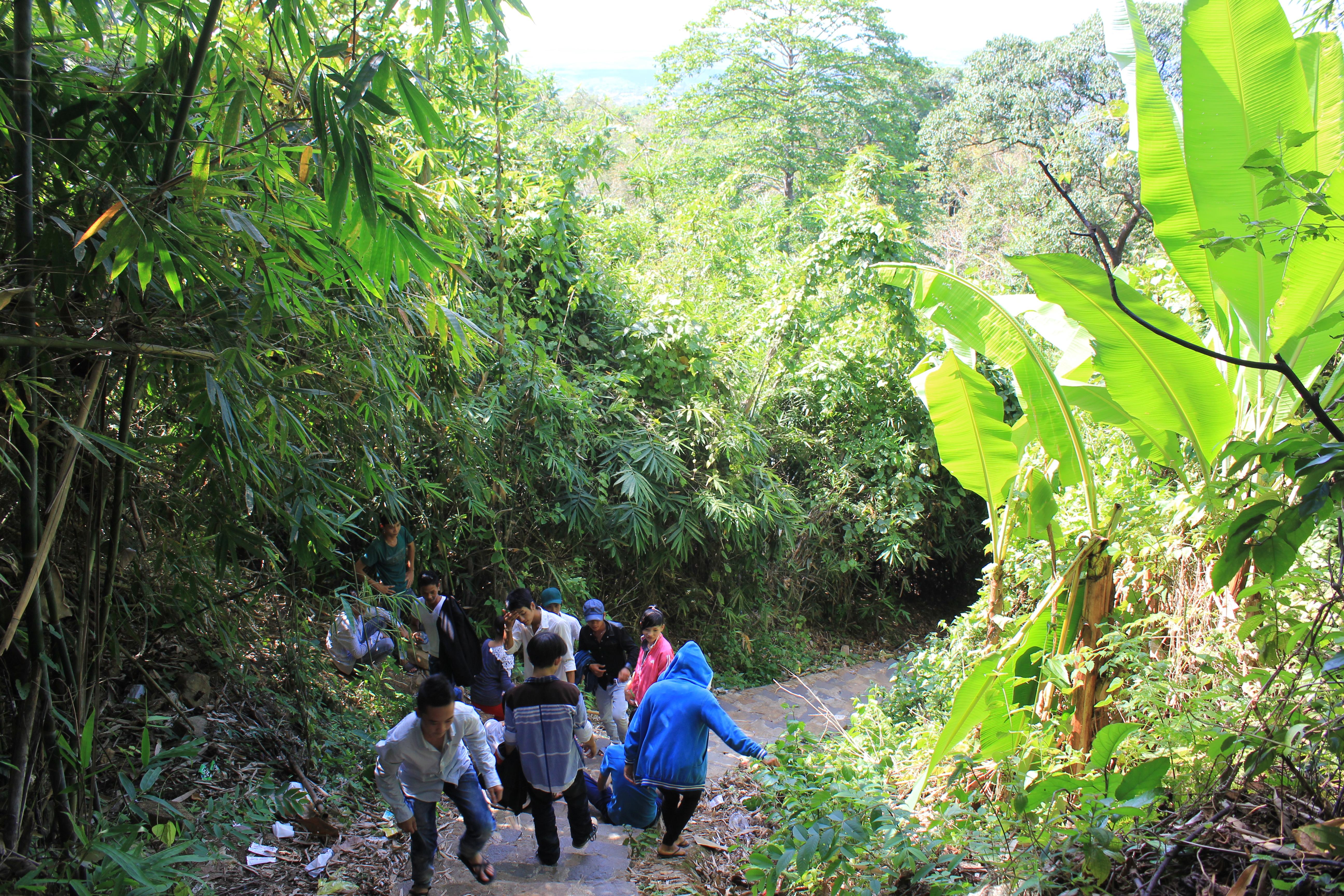 Một đoạn đường xuống núi