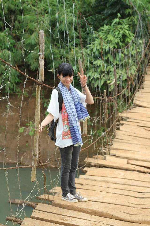 Cầu treo ở Bình Phước