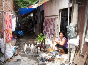 Nhà chị Tím- mẹ bé Phương Anh- ảnh Báo Dân trí