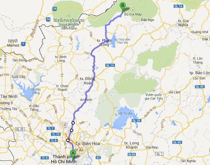 bản đồ đường đi- ảnh Tessuarai(phuot.vn)